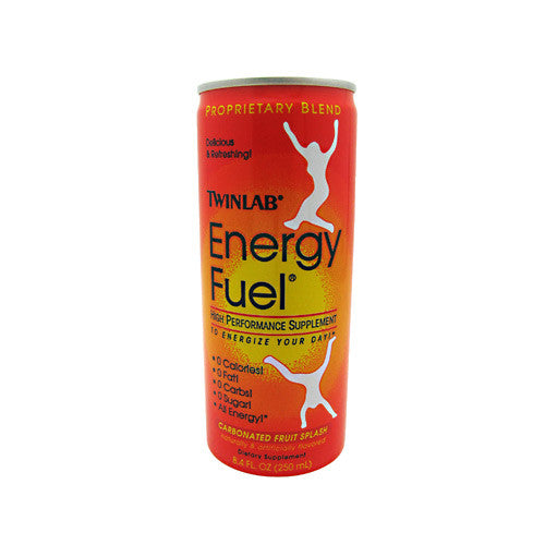 TwinLab Energy Fuel - Carbonated Fruit Splash - 24 Cans - 027434020688