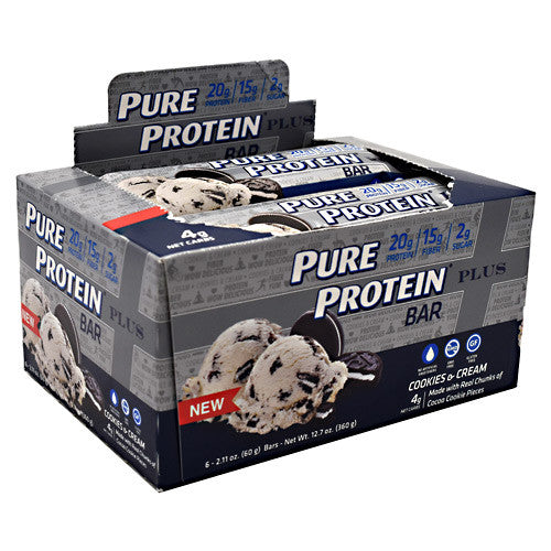 Pure Protein Pure Protein Plus Bar - Cookies & Cream - 6 Bars - 749826656700
