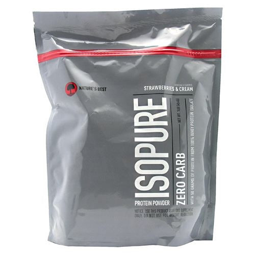 Natures Best Zero Carb Isopure - Strawberries & Cream - 1 lb - 089094022495