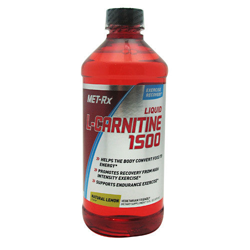 MET-Rx L-Carnitine 1500 - Natural Lemon - 16 fl oz - 786560159043