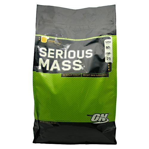 Optimum Nutrition Serious Mass - Banana - 12 lb - 748927028874
