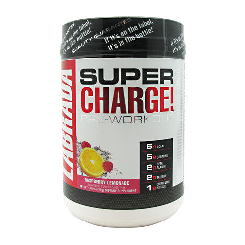 Labrada Nutrition Super Charge 5.0 - Raspberry Lemonade - 25 Servings - 710779444997