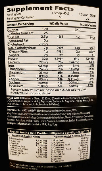 Nutrition Tech MASS Whey 5 lbs - Vitamin Shack