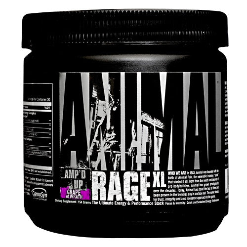Universal Nutrition Animal Rage XL - Grape Of Wrath - 30 Servings - 039442031013