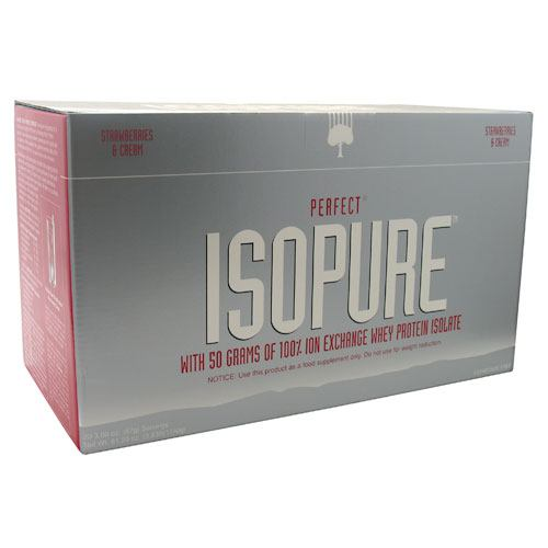 Natures Best Perfect Isopure - Strawberries & Cream - 20 Servings - 089094021078