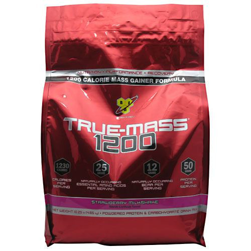 BSN True Mass 1200 - Strawberry Milkshake - 10.25 lb - 834266006526