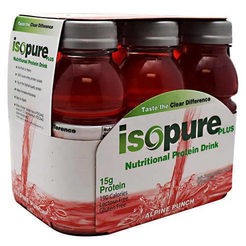 Natures Best Isopure Plus RTD - Alpine Punch - 24 Bottles - 089094034955