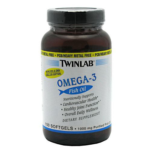 TwinLab Omega-3 - 100 Softgels - 027434032179