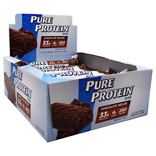 Worldwide Sport Nutritional Supplements Pure Protein Pure Protein Bar - Chocolate Deluxe - 12 Bars - 749826125657