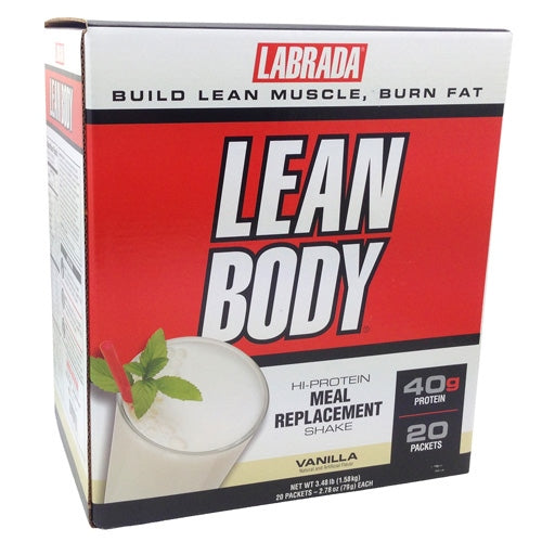 Labrada Nutrition Lean Body - Soft Vanilla Ice Cream - 20 ea - 710779112346