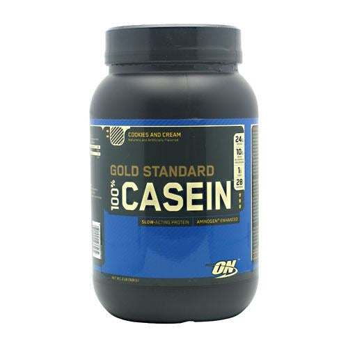 Optimum Nutrition Gold Standard 100% Casein - Cookies and Cream - 2 lb - 748927024159