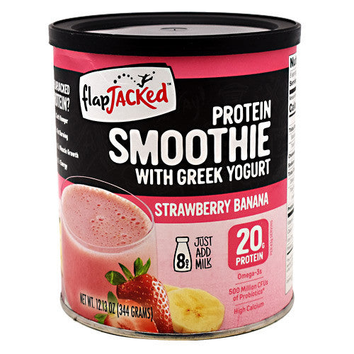 FlapJacked Protein Smoothie - Strawberry Banana - 8 Servings - 850171005621