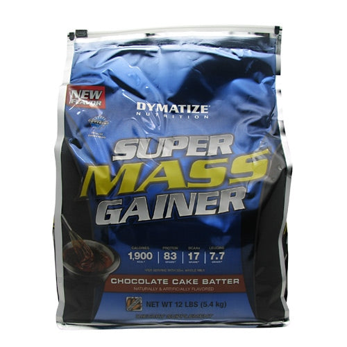 Dymatize Super Mass Gainer - Chocolate Cake Batter - 12 lb - 705016331482