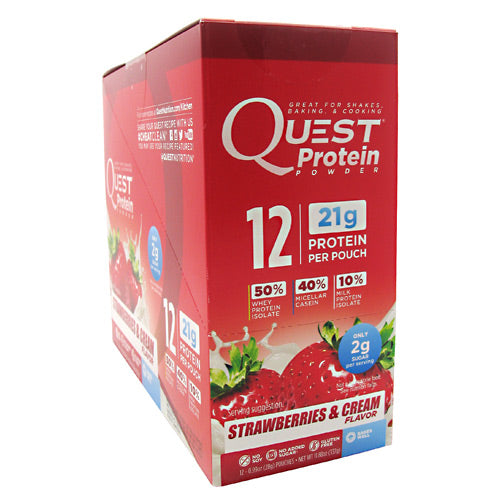 Quest Nutrition Quest Protein Powder - Strawberries & Cream - 12 ea - 888849000845