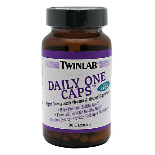 TwinLab Daily One Caps with Iron - 90 Capsules - 027434009058