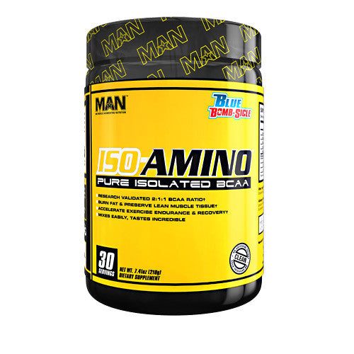 MAN Sports Iso-Amino - Blue Bomb-Sicle - 30 Servings - 898684554540
