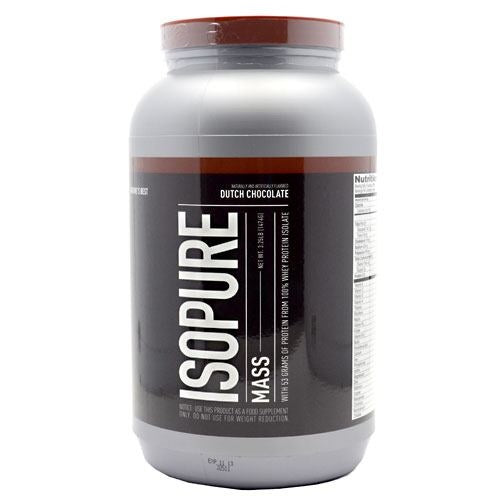 Natures Best Isopure Mass - Dutch Chocolate - 3.25 lb - 089094022037