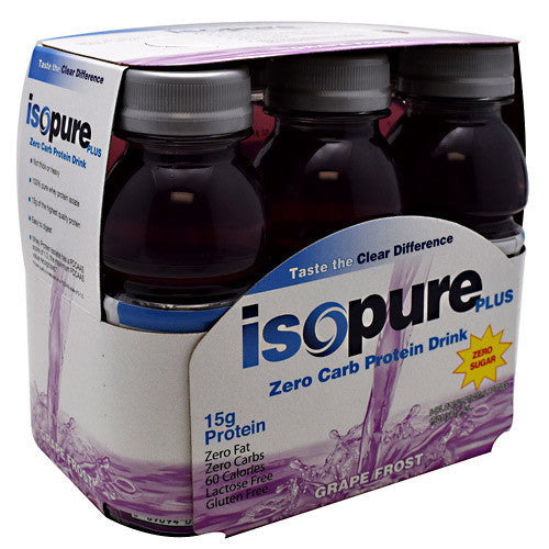 Natures Best Zero Carb Isopure Plus RTD - Grape Frost - 24 Bottles - 089094034849