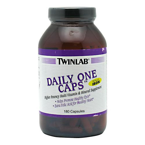 TwinLab Daily One Caps Without Iron - 180 Capsules - 027434003551