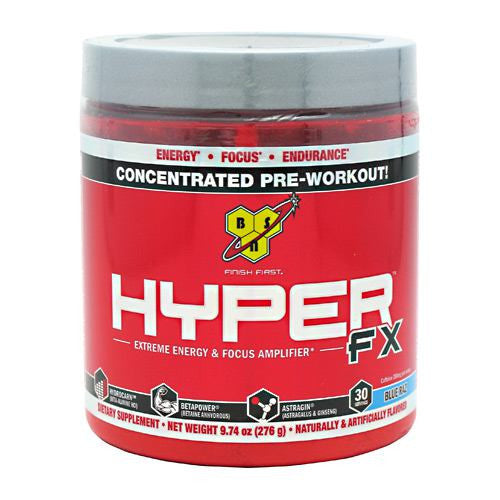 BSN Hyper FX - Blue Raspberry - 30 Servings - 834266003587