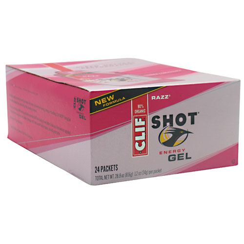 Clif Shot Energy Gel - Razz - 24 Packets - 722252276230