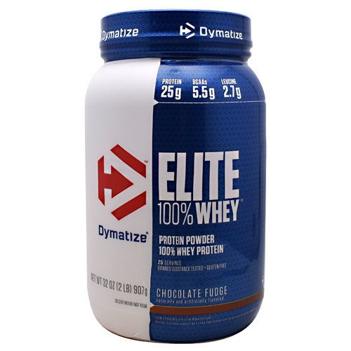 Dymatize Elite 100% Whey - Chocolate Fudge - 2 lb - 705016599080