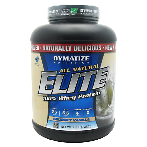 Dymatize All Natural Elite Whey Protein Isolate - Gourmet Vanilla - 5 lb - 705016556007