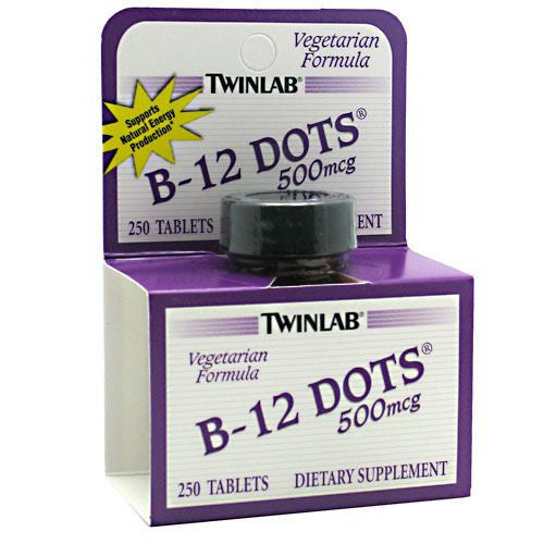 TwinLab B-12 Dots - 250 Tablets - 027434006095