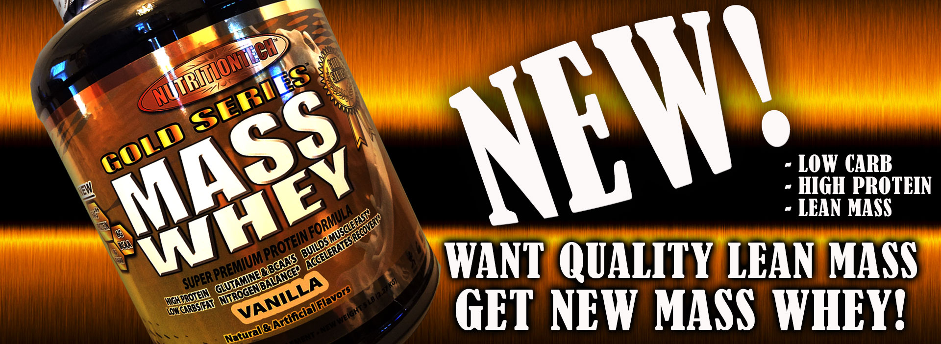 New Mass Whey is in stock!