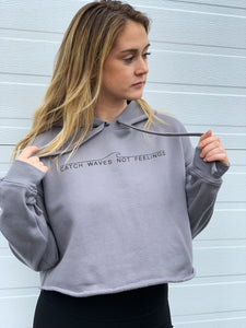Catch Waves Crop Hoodie