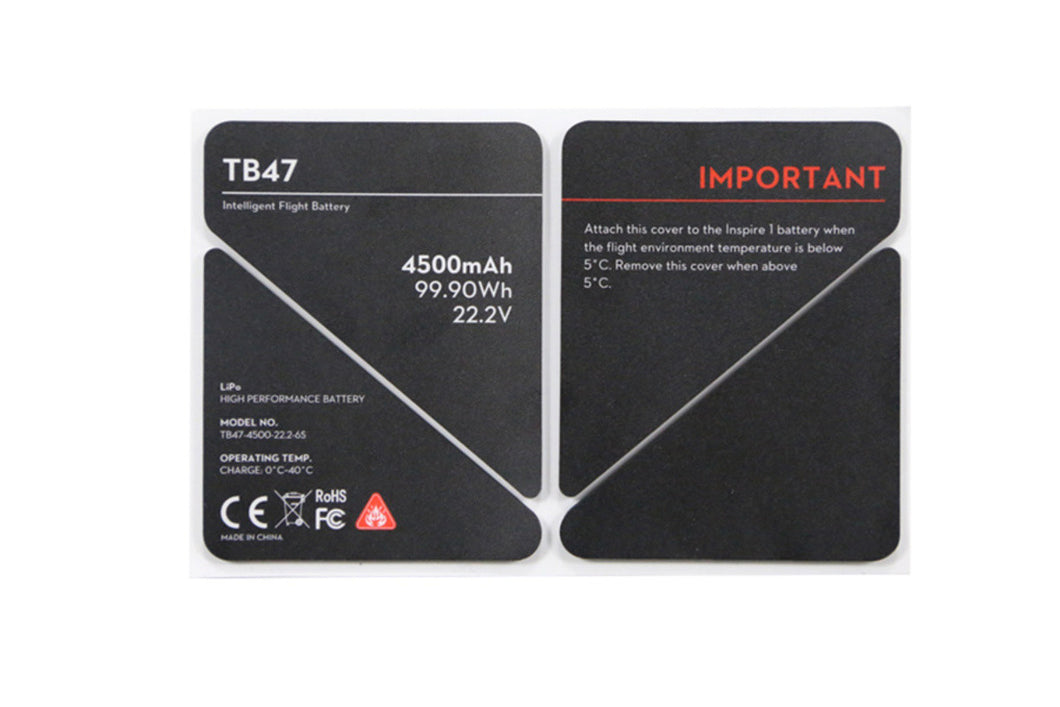 DJI INSPIRE 1 - TB47 Battery Insulation Sticker