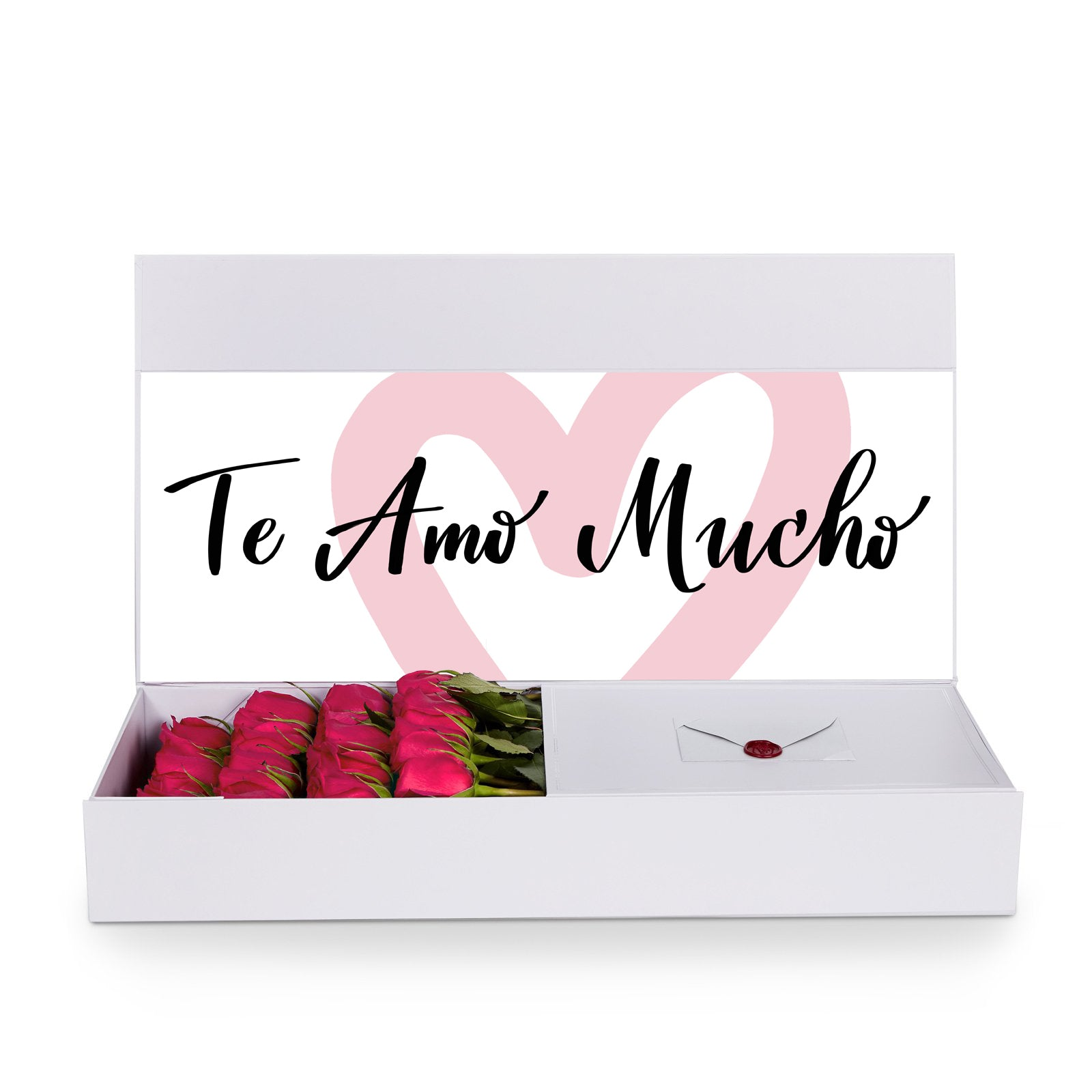 Te Amo Mucho Via Florelle Te amo (mucho) is like the most serious and strong version of affection and you would use this with your family too but also (and maybe mostly) in a te amo means i love you but is not lightly said. usd