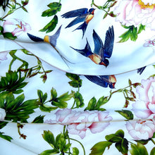 Long silk double scarf  White/Pink 33cmx180cm