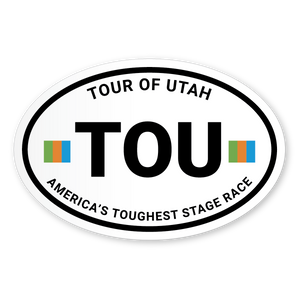 TOU Oval Sticker