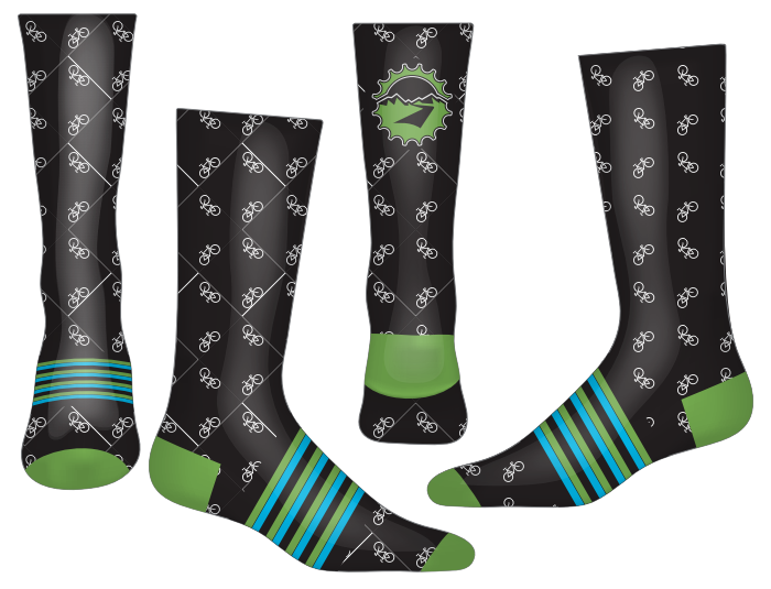 TOU Bike Dress Socks