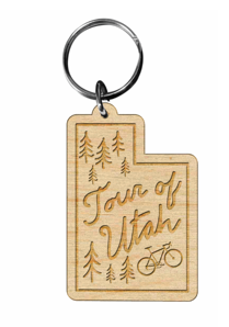 19 Wood Utah Shaped Keytag