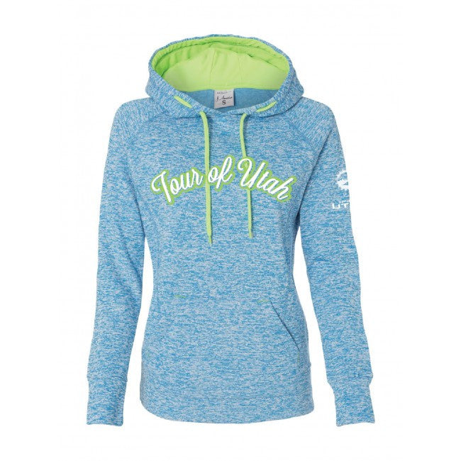 Ladies Cosmic Fleece – Electric Blue/Neon Green