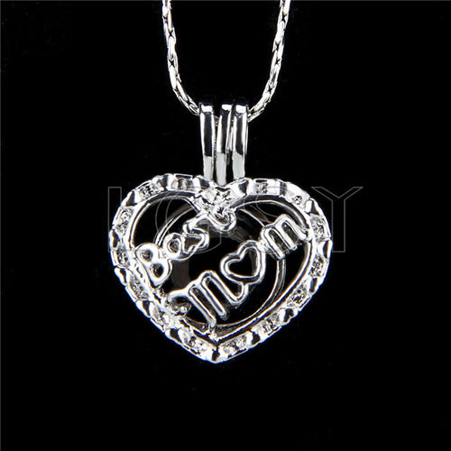 Silver plated pendants oyster pearl cravings best mom pendant silver plated mozeypictures Gallery
