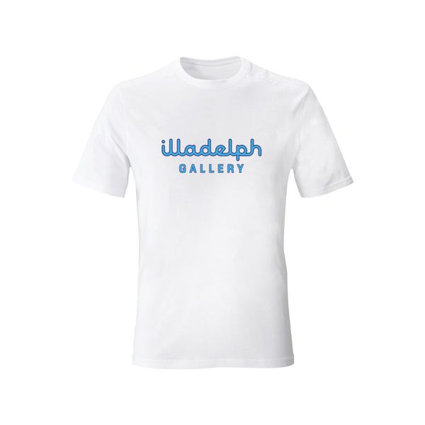 Blue on White Illadelph Gallery T-Shirt