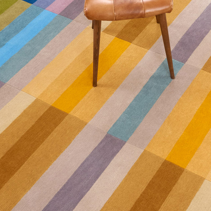 Bauhaus Yellow Hand Knotted Pile Rug by Ptolemy Mann