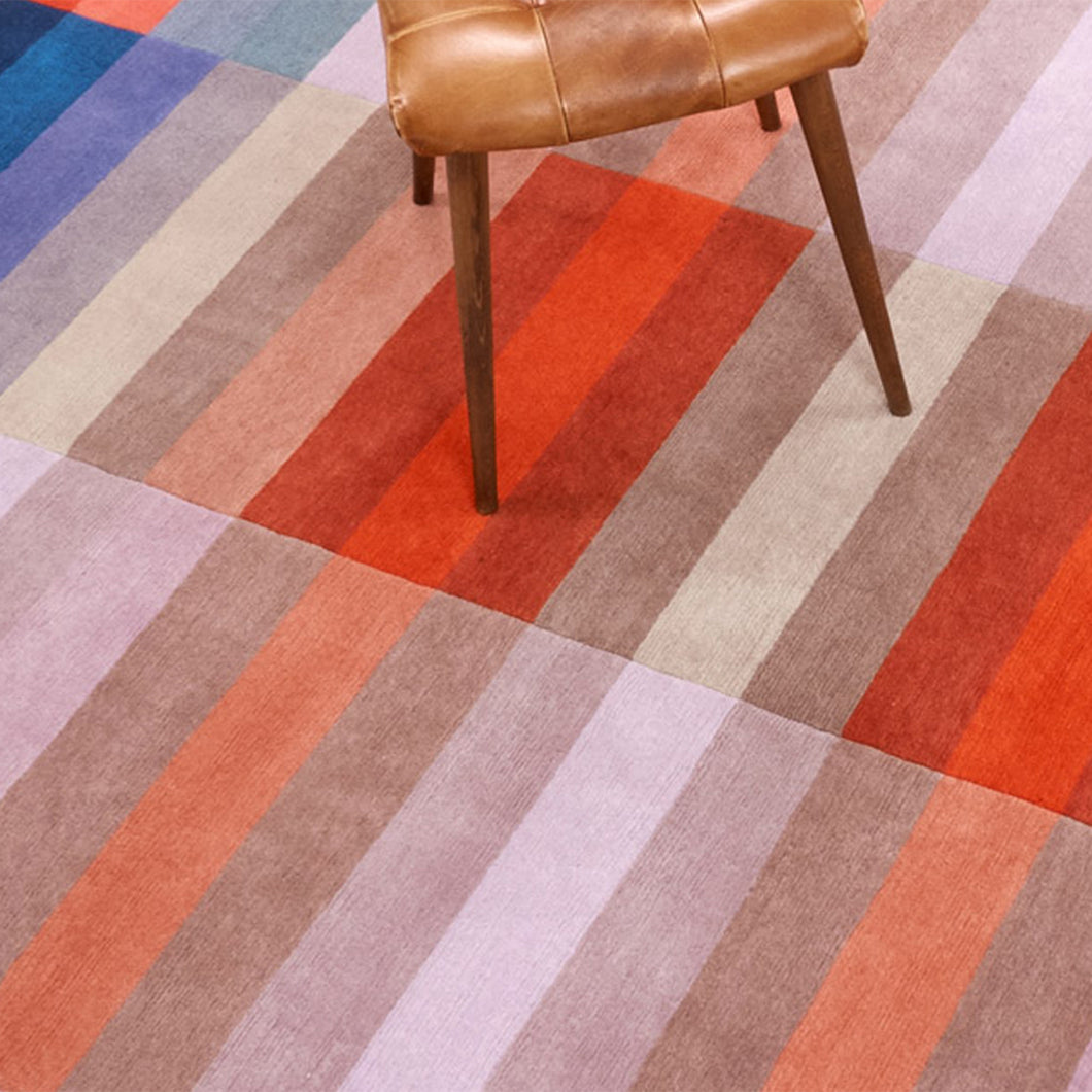 Bauhaus Red Hand Knotted Pile Rug by Ptolemy Mann