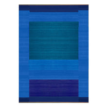 Tonal Blue Green – Flatweave Runner