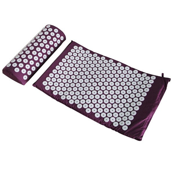 Stress Relief Acupressure and Massage Mat with Pillow