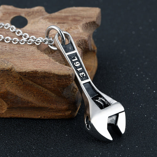 A Work of Heart Mechanic's Wrench Memorial Necklace