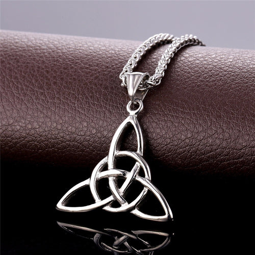 Celtic Trinity Knot Charming Necklace