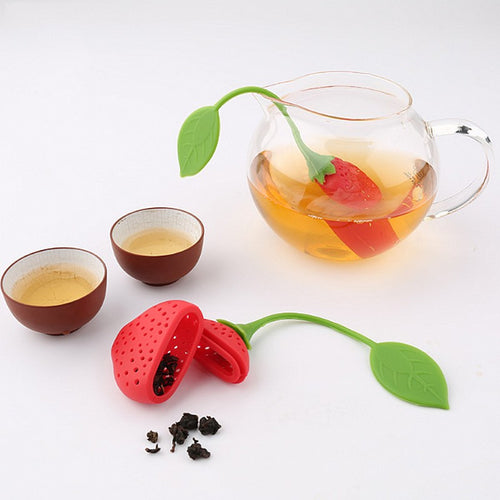 Infused with Charm Strawberry Shaped Tea Infuser