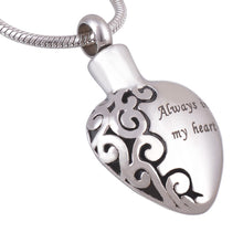 Ever Charmed Always in My Heart Memorial Urn Necklace