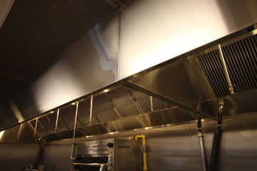 14' Wall Canopy Hood, Fan, Direct Fired Heated Makeup Air Unit System