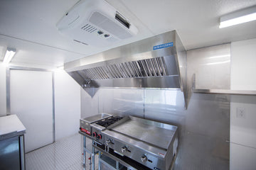8' Mobile Kitchen Hood System with Exhaust Fan
