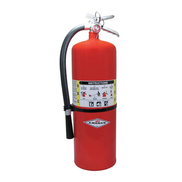 Dry Chemical Fire Extinguisher with 20 lb. Capacity and 30 sec. Discharge Time - addinstock